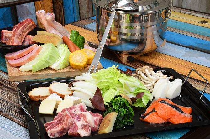 ファミリーセット(味噌豆乳鍋+BBQ)
